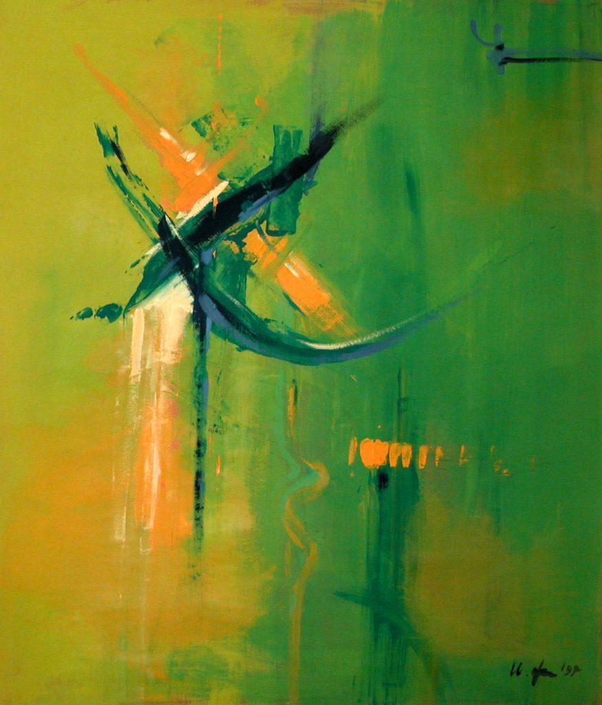 A Fleuret Moucheté Ursula Uleki Peinture Contemporaine